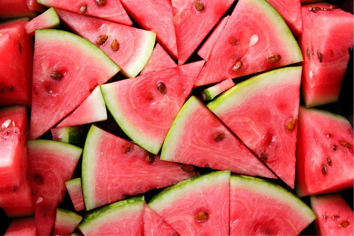 Wedges of ripe watermelon